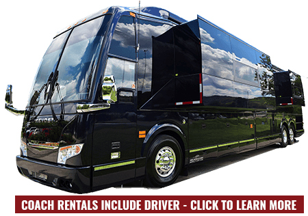 All Coach Rentals include a driver for your trip
